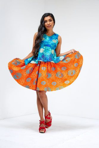 limpo curve flared skirt 1