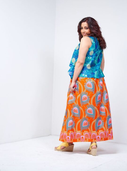 sophie side slit maxi skirt 3