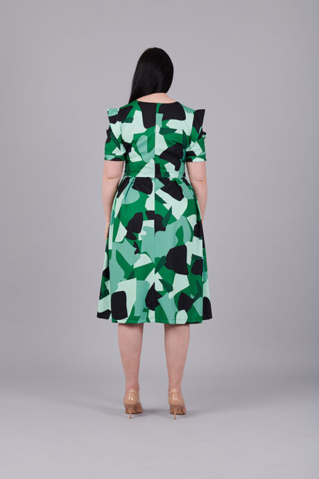 Camouflage-Stretch-Dress-back